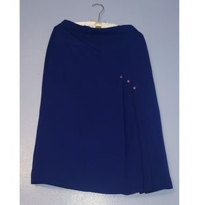 Dresses & Skirts - Navy Blue Pencil Skirt With Violet Buttons
